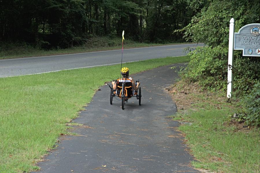 Recumbent bike on Twiford Street Multi-use trail, Kitty Hawk