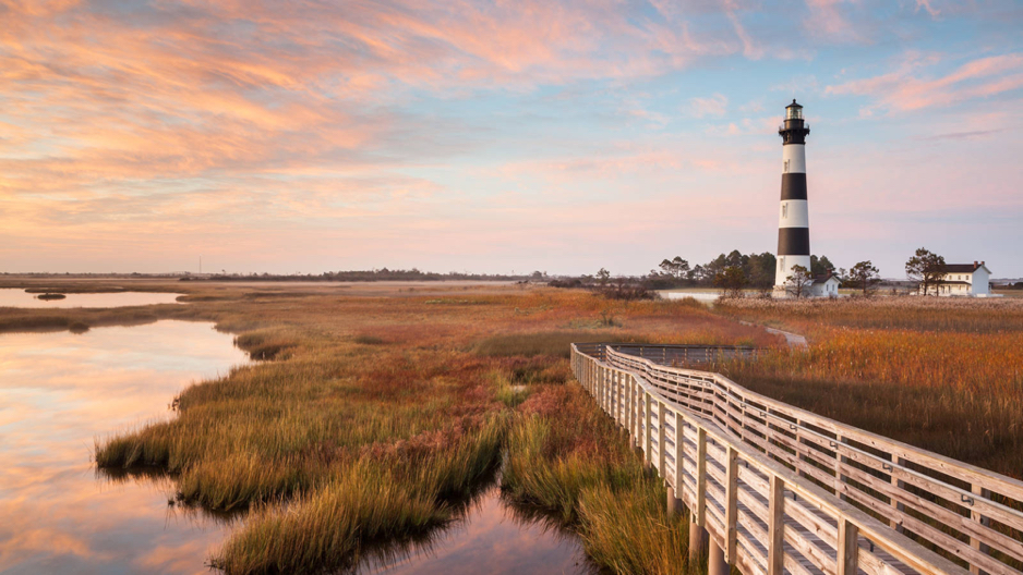 Bodie Island Lighthouse and Boardwalk.