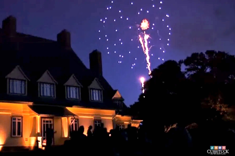 Fireworks at the Whalehead Club.